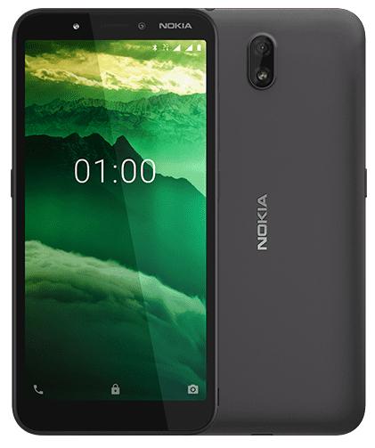 Nokia c1 Black 16GB+1GB MEMORY